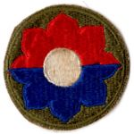 WWII 9th Division Patch