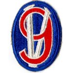 WWII 95th Division Blue Border Patch