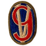 WWII 95th Division OD Border Patch