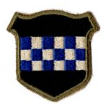 WWII 99th Division Blue Square First Variant Patch