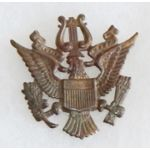 WWI US Military Academy West Point Band Cap Badge