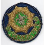 WWII - Late 40's 2nd Armored Cavalry Regiment German Made Bullion Patch