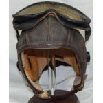 WWII US Navy NAF-1092 Leather Flight Helmet With Electronics & Goggles