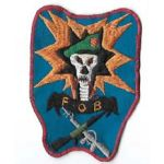 Vietnam Special Forces Blue Tooth FOB / Forward Observation Base SOG Shellburst Pocket Patch