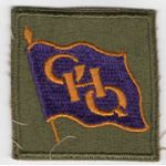 WWII General Headquarters / GHQ Purple Flag Patch