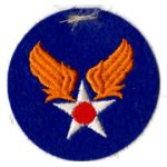 WWII AAF Headquarters On Felt Patch