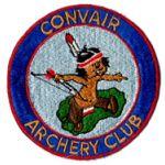 1950's-60's Convair Aircraft Company Archery Club Patch