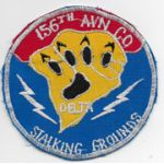 Vietnam 156th Aviation Company DELTA STALKING GROUNDS Pocket Patch