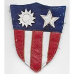 WWII Odd Shield Shaped Multi-Piece Leather CBI Patch