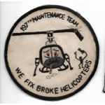 Vietnam 197th Aviation Maintenance Team WE FIX BROKE HELICOPTERS Pocket Patch