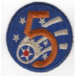 WWII 5th Army Air Force Patch
