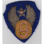 WWII 9th Air Force Heavy Bullion Patch