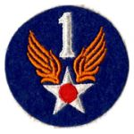 WWII AAF 1st Air Force On Felt Patch