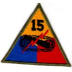 WWII 15th Armor Division Patch
