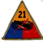 WWII 21st Armor Division Patch