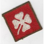 WWII 4th Army OD Border Patch