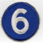 WWII 6th Corps Patch