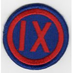 WWII 9th Corps Patch