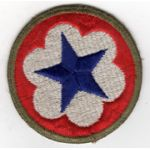 WWII Army Service Forces OD Border  Patch