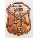 WWI 15th Regiment 369th Infantry AEF Watch Fob