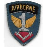 WWII - Occupation 1st Allied Airborne German Made Bullion Patch