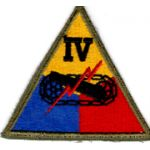 WWII IV Armor Corps Patch