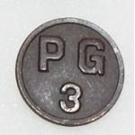 WWI 3rd Prison Guard Enlisted Collar Disc