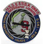 USS Essex CVA-9 Photo Lab Far East Cruise 1954 Japanese Made Squadron Patch