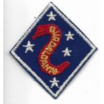 WWII US Marine Corps 2nd Division 1st Type Patch On Twill