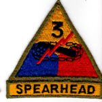 WWII 3rd Armor Division With Spearhead Tab  Patch