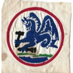 Late 1940's US Navy FASRON 121 Chain Stitched Squadron Patch