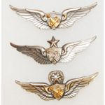1960's Set Of Three Army  Astronaut Pilot Wings