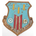 WWII - 1950's US Air Force 308th Bomb Wing Leather Squadron Patch