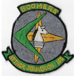 1960's US Navy Attack Squadron / VA-165 BOOMERS Squadron Patch