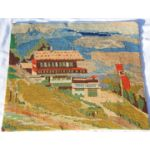 WWII Berghof / Eagles Nest Embroidered Wall Hanger