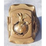 """WWII - Late 40's Marine Corps Mexican Made """"Biker"""" Ring"""