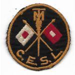 WWII Massachusetts Institute Of Technology Signal Corps CESL Shoulder Patch