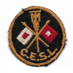 WWII Massachusetts Institute Of Technology Signal Corps CESL Cap Patch