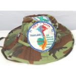 Vietnam BDQ / Ranger Camo Boonie Hat Covered In Patches