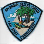 Far East Connection Operation Desert Storm Theatre Made Patch