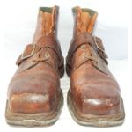 WWII German Mountain Troops Leather Ankle Boots