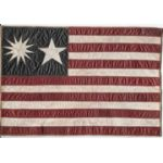 WWII CBI Themed Variant Leather US Flag Back Patch