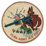WWII AAF Yuma Army Air Field Gunnery School Disney Design Squadron Patch