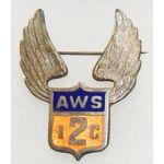 Aircraft Warning Service 2nd Interceptor Command  Enameled Wing Badge