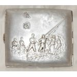 WWII Japanese Army Artillery National Volunteers Cigarette Case