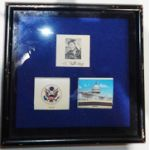 Vietnam Era Martha Raye Framed Congress Matchbooks & ID Photo