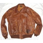 WWII AAF Size 50 A-2 Leather Flight Jacket