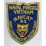 Vietnam Martha Raye's US Navy NAVCAT Team 22 Patch