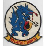 Vietnam Martha Raye's HELATKLTRON / HALTRON 3 SEA WOLVES Patch