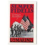 1937  US Marine Corps Recruiting Pamphlet Semper Fidelis